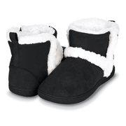 Floopi Womens Indoor Outdoor Bootie Slipper - Sherpa Fur Lined Clog W/Memory Foam