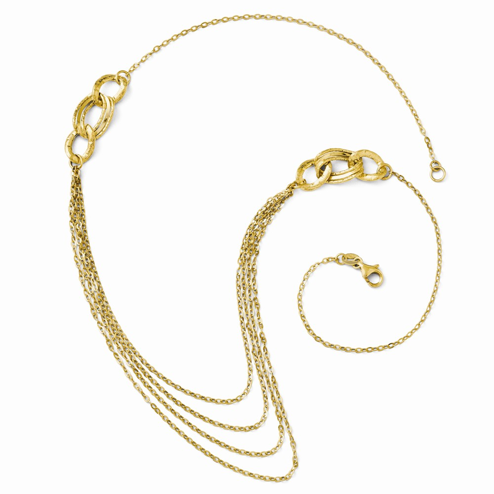 14k Yellow Gold 18in Four Layer Rope Chain Necklace