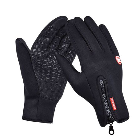 (Women Men Ski Gloves Snowboard Gloves Motorcycle Riding Winter Touch Screen Snow Windstopper Glove Size S-XL)