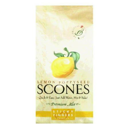 Sticky Fingers Scones Lemon Poppyseed, 15 OZ (Pack of 6)