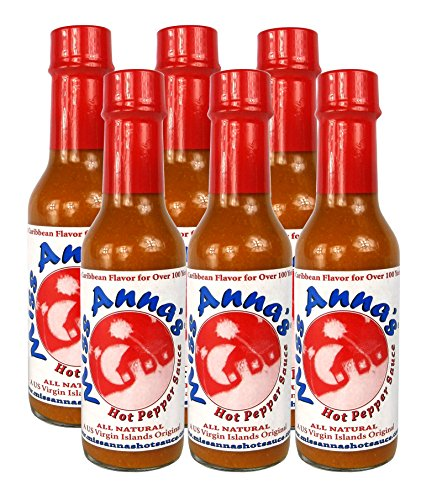 Miss Anna's Hot Pepper Sauce 6 PACK by Miss Anna's