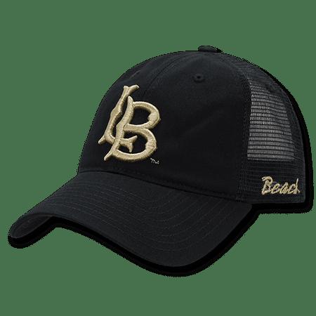 NCAA Long Beach Cal State University Relaxed Mesh Trucker Caps Hats Black