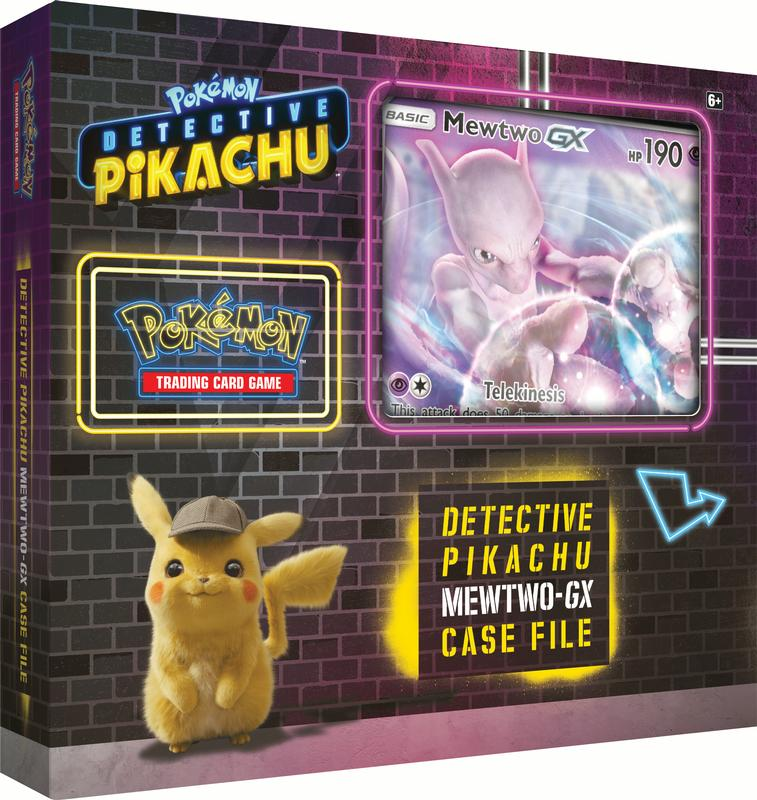 Detective Pikachu Pokemon Trading Cards- Mewtwo-Gx Case File + 6 Booster Pack + A Foil Promo Gx Card + A... by Pokemon