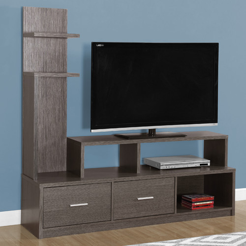 "MONARCH - TV STAND - CAPPUCCINO WITH A DISPLAY TOWER - FOR TV'S UP TO 47""L"