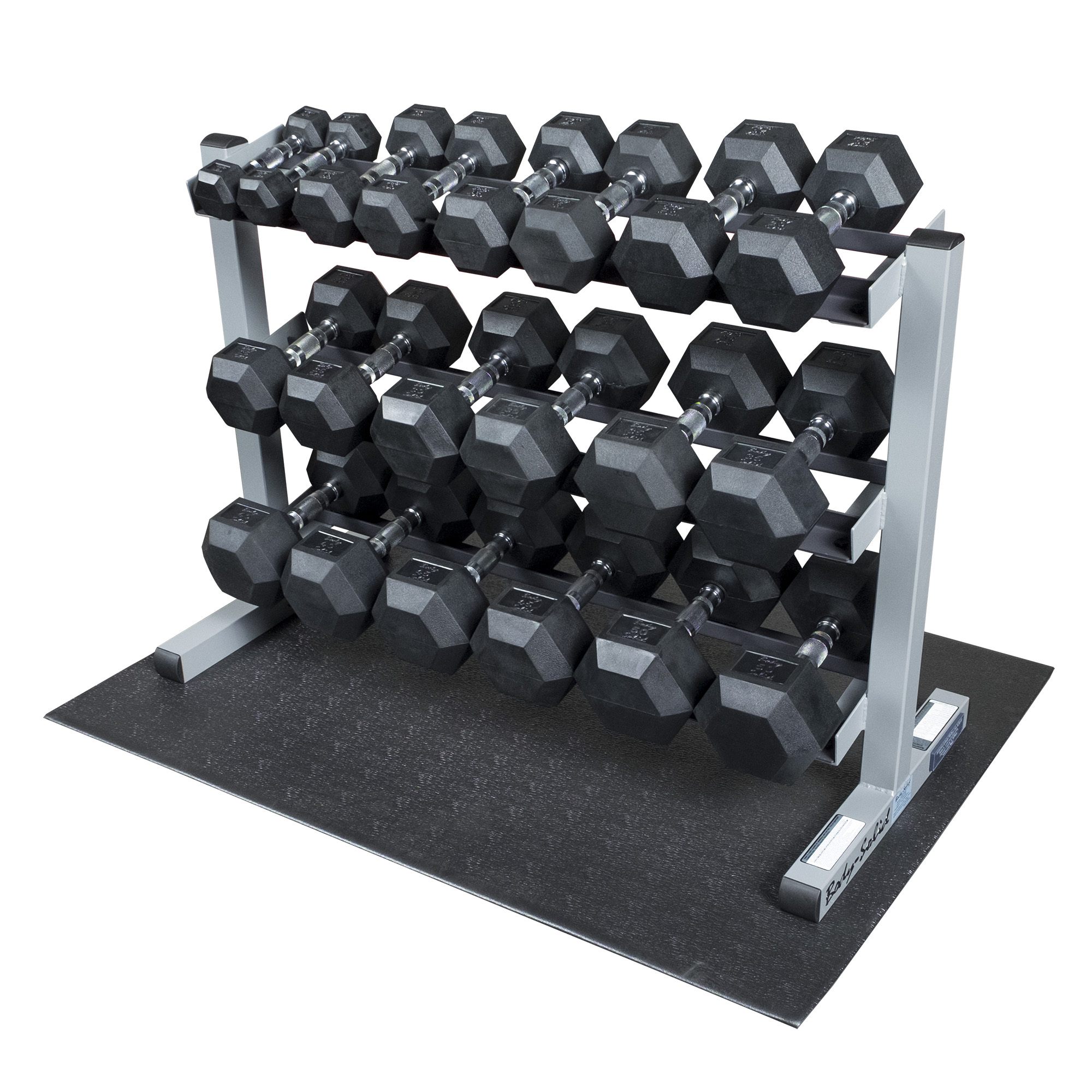 Body Solid GDR363-RFWS Dumbbell Rack Package