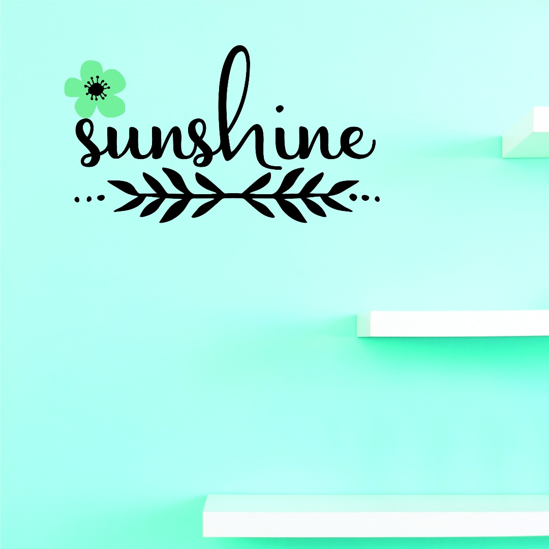 Custom Wall Decal Vinyl : Sunshine Home Decor Picture Art 10 X 20
