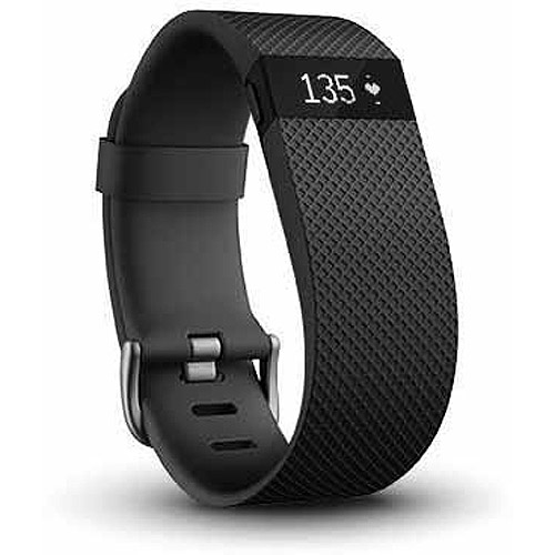 Refurbished Fitbit Charge HR FB405BKL Heart Rate and Activity Tracker + Sleep Large, Black