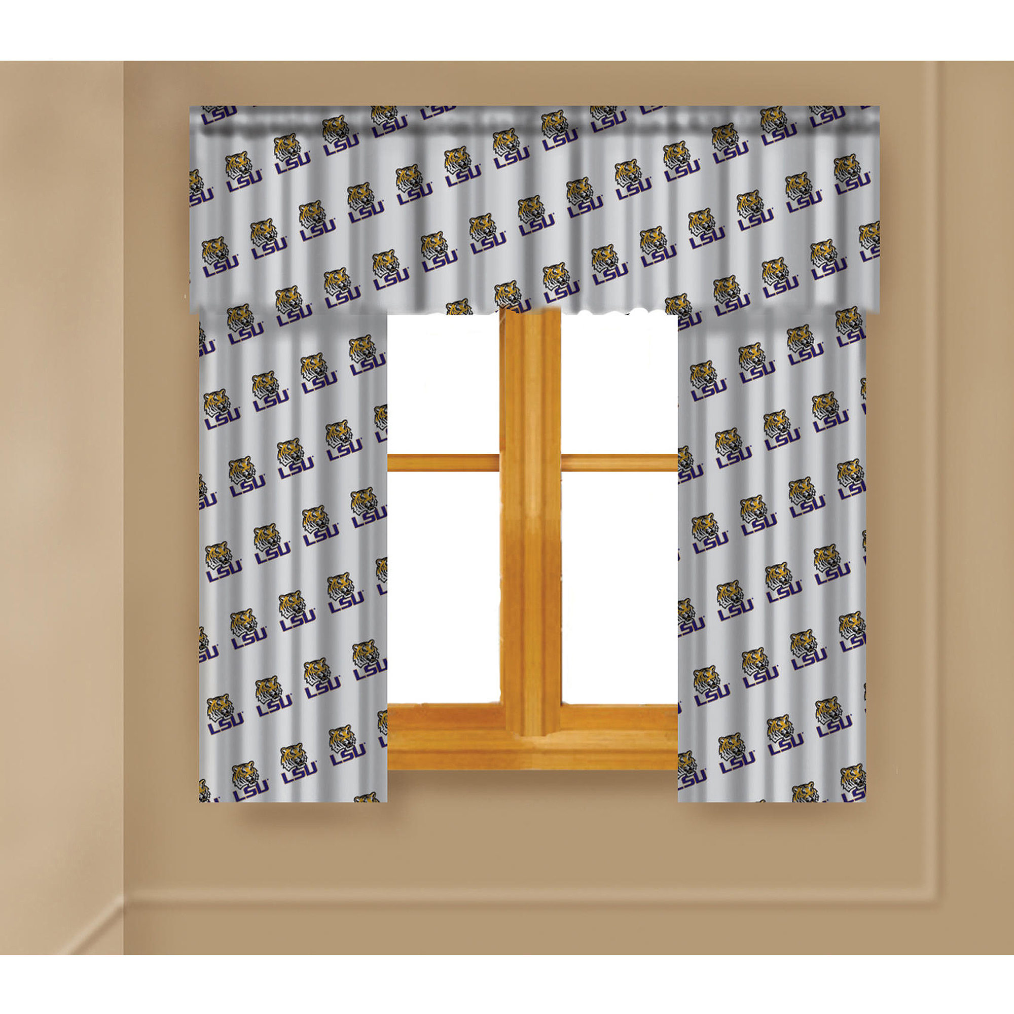 NCAA Lousiana State Tigers Window Curtain Panels