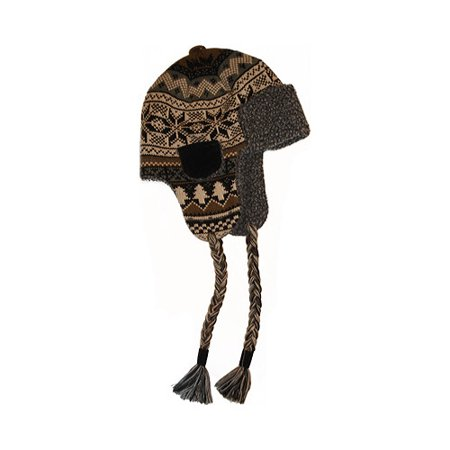 87edbf0de99d6d Muk Luks - Men's Traditional Knit Trapper Hat - Walmart.com