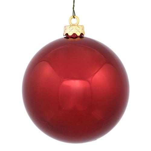 The Holiday Aisle UV Drilled Cap Shiny Ball Ornament