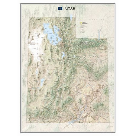 National Geographic Maps Utah State Wall Map