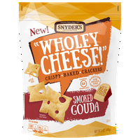 (2 Pack) Snyder's of Hanover Wholey Cheese! Gluten Free Baked Cheese Crackers, Smoked Gouda, 5 Oz