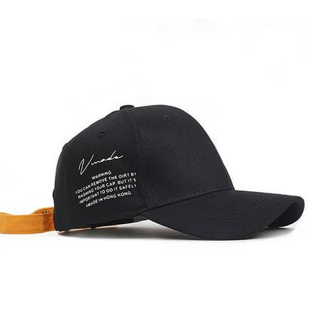 Stylish Adjustable Sun Hat Creative Unique Letter Printing Baseball Cap Unisex Hip Hop Dancing