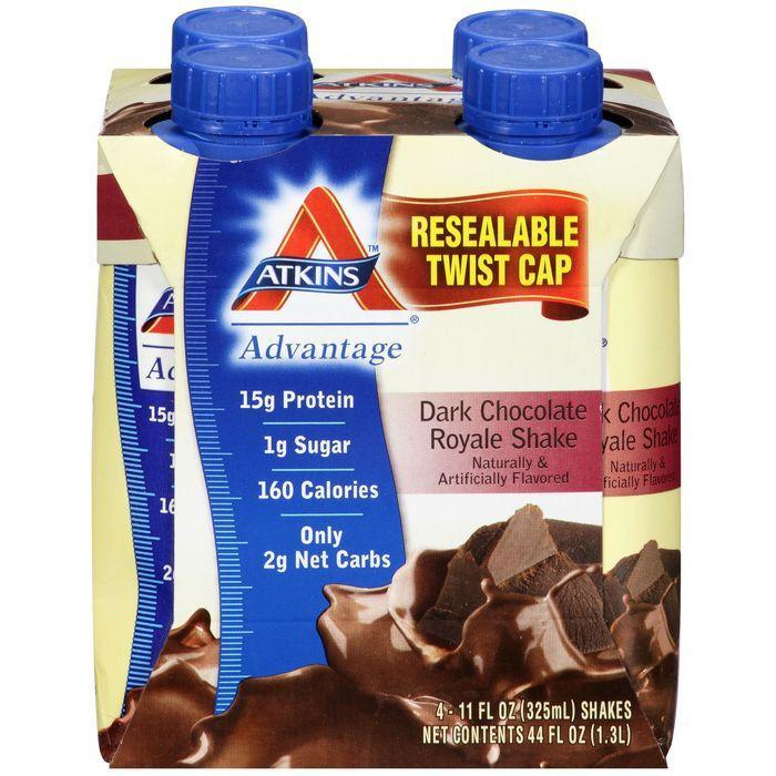 Atkins Advantage Dark Chocolate Royale Shakes 4-11 fl. Oz Aseptic Cartons (Pack of 6)