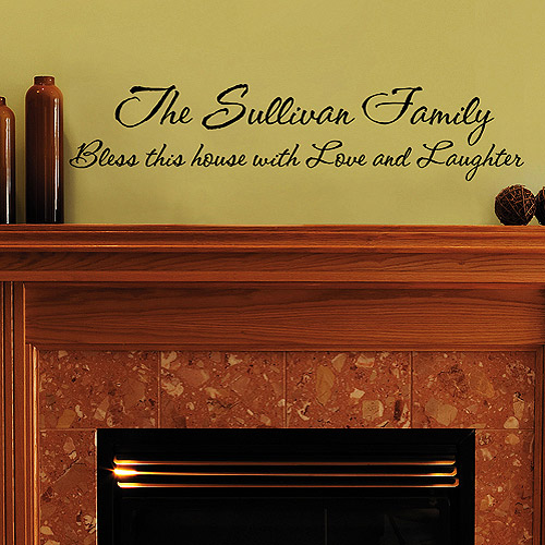 Personalized Family Vinyl Message Wall Art