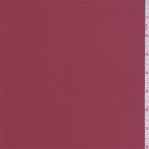 Brick Red Stretch Satin, Fabric By the Yard