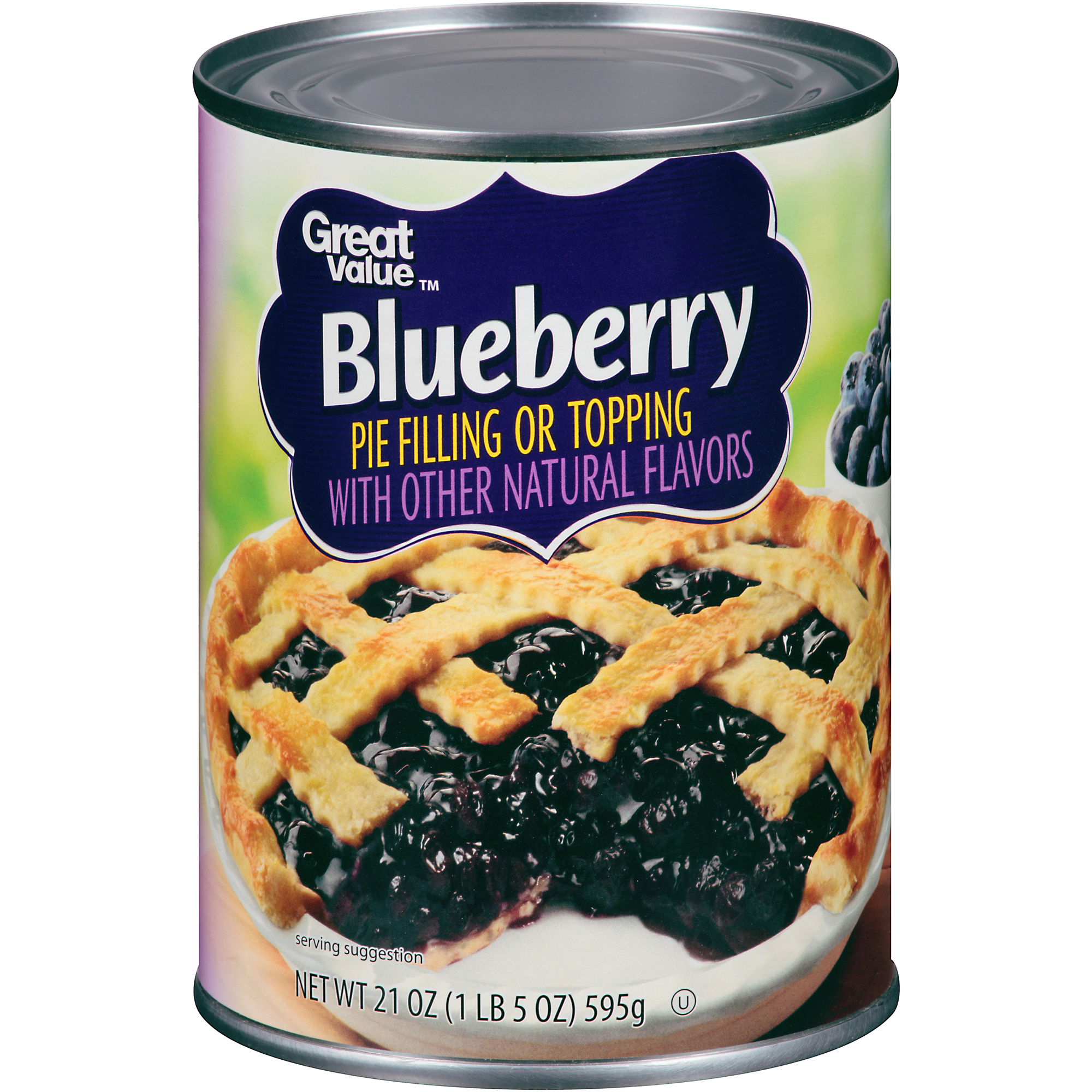 Great Value Blueberry Pie Filling or Topping, 21 oz