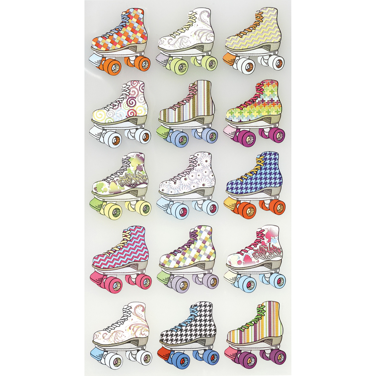 Sticko Stickers-Bright Roller Skates