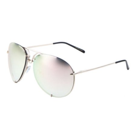 New Retro 80s Fashion Aviator Sunglasses Black Metal Men Women Vintage (Vintage Pink Glasses)