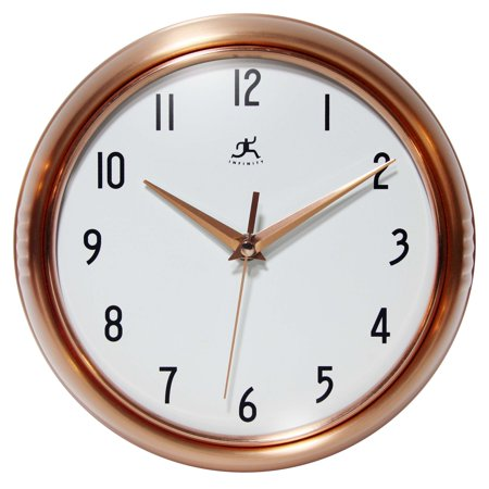 Infinity Instruments Copper 9.5 in. Retro Wall Clock