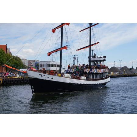Coast Port - Canvas Print Lake Ship Baltic Sea Port Pirate Ship Coast Stretched Canvas 10 x 14