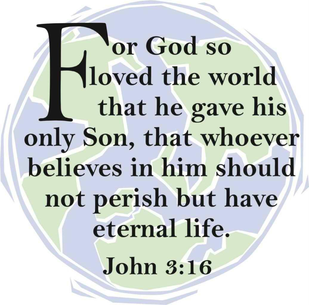 "For God So Loved The World - John 3:16 Kjv 10""X10"" - Picture Art - Peel & Stick Vinyl Wall Decal Sticker"