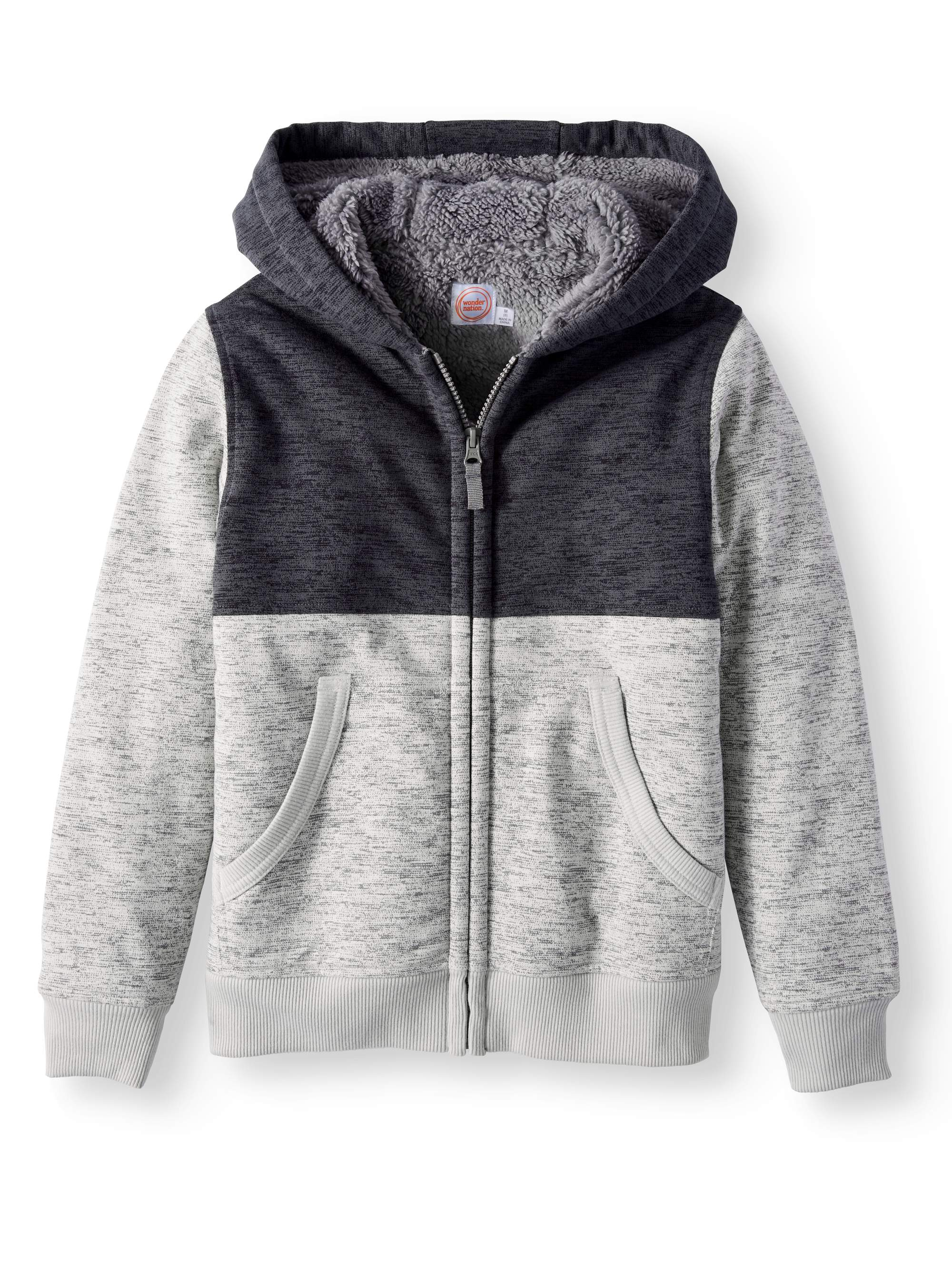 Wonder Nation Boys Sherpa Lined Hoodie Walmart Inventory Checker