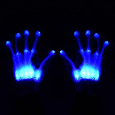 LED Skeleton Hand Gloves - Skeleton Hand Gloves