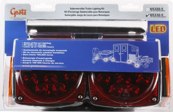 Grote 65330-5 Submersible LED Trailer Lighting Kit 653305 with Clearance Marker