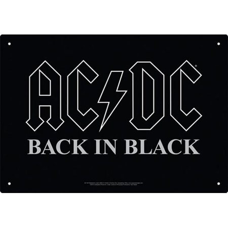 AC/DC - Back in Black - Tin - Ac Dc Halloween Songs