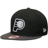 Indiana Pacers New Era 9FIFTY Snapback Adjustable Hat - Black/Graphite - OSFA
