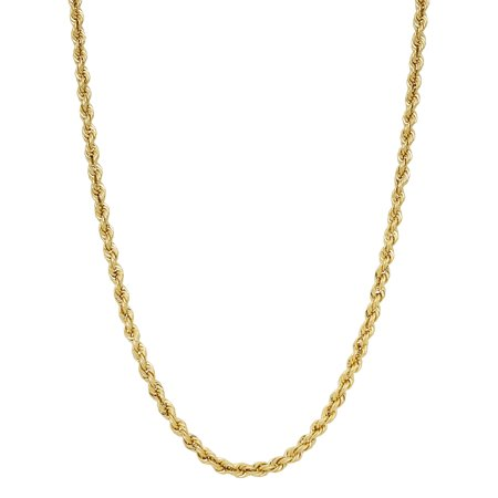 Simply Gold Mens 10Kt Yellow Gold 3 40 3 45Mm Rope Chain  22