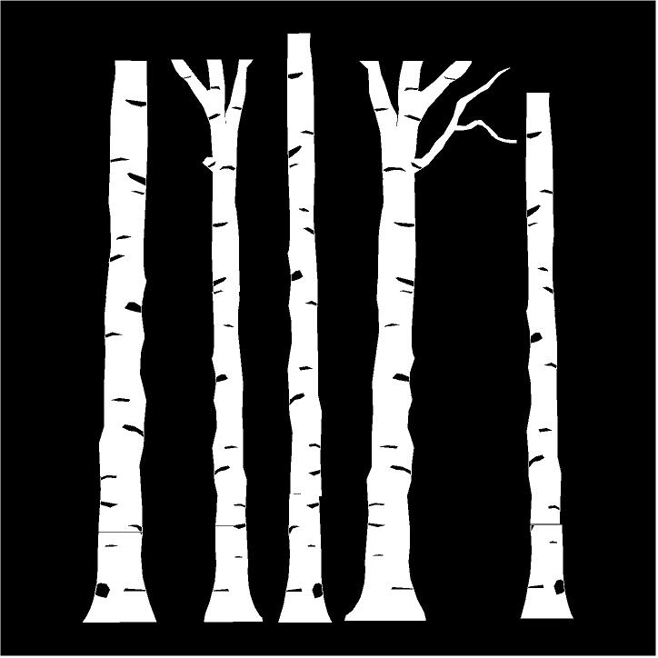 Birch Trunks (white) tree decal wall saying vinyl lettering home decor decal stickers quotes