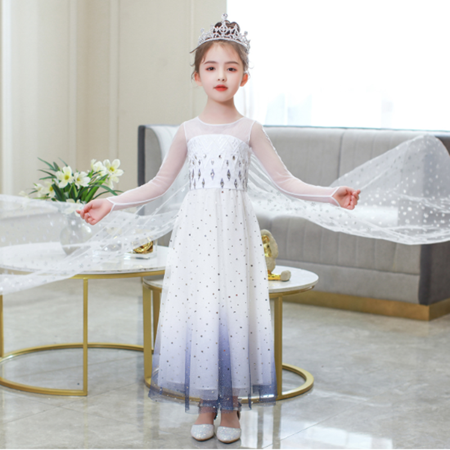 Girls Frozen 2 Elsa Princess Dress Up Costumes Halloween Christmas Fancy Party Dresses - image 7 of 7