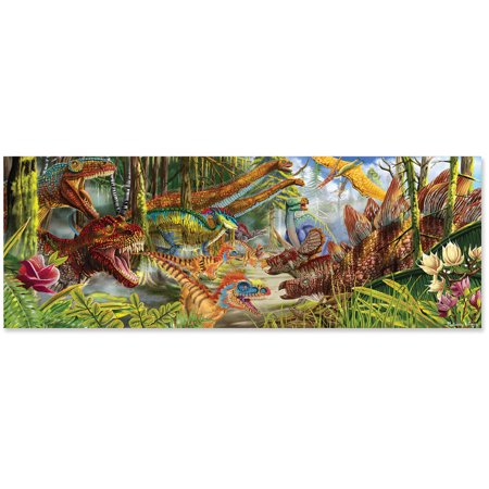 Melissa & Doug Easy-to-See 3-D Marker Coloring Puzzles - Safari and Ocean (24 pcs each)