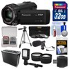 Panasonic HC-V770 Wireless Smartphone Twin Wi-Fi HD Video Camera Camcorder + 32GB Card + Case + LED Light + Microphone + Tripod + Tele/Wide Lens Kit Kit Includes 12 Items with all Mfr-supplied Acc + Full USA Warranties 1) Panasonic HC-V770 Wireless Smartphone Twin Recording Wi-Fi HD Video Camera Camcorder 2) Transcend 32GB SecureDigital (SDHC) 300x UHS-I Class 10 Memory Card 3) Professional Heavy Duty Hard Case with Custom Foam (Small) 4) Vidpro Mini Condenser Microphone for DSLRs, Camcorders + Video Cameras 5) Precision Design Digital Camera / Camcorder LED Video Light with Bracket 6) Precision Design 50 in PD-50PVTR Compact Travel Tripod 7) Precision Design 2.5x Telephoto + .45x Wide-Angle Digital Lenses (49mm/52mm/55mm/58mm) 8) Vivitar 3-Piece Multi-Coated HD Filter Set (49mm UV/CPL/ND8) 9) PD SD/SDHC MicroSD Reader 10) PD 5pc Complete Cleaning Kit 11) PD 8 SD Card Memory Card Case 12) LCD Screen Protectors The Panasonic HC-V770 Wireless Smartphone Twin Recording Wi-Fi HD Video Camera Camcorder lets you catch the scenes you want with easy zooming and excellent quality. Use the worlds first HDR (High Dynamic Range) Movie technology to get clear shots even with backlighting. And take sub camera shots with a smartphone. The BSI sensor, which features 6.0MP pixels, and the high-speed Crystal Engine, capture crisp, clear pictures. HYBRID O.I.S. + uses five-axis correction to thoroughly suppress blurring all the way from wide-angle to powerful zoom shots. The wind shield zoom microphone capture clear audio. iA (intelligent Auto) senses the shooting conditions and automatically makes the settings and activates functions that deliver optimal results. By pushing or rotation the manual dial, you can easily adjust allocated function, like focusing and changing the iris. The Wi-Fi function enables easy connection, remote shooting, and sharing with smartphones. Key Features: Wireless Twin Camera: Using your smartphone with Wi-Fi operation as a sub camera, you can shoot from t