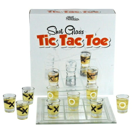 Fairly Odd Novelties Shot Glass Tic Tac Toe Drinking Game - Personalized Shot Glass No Minimum