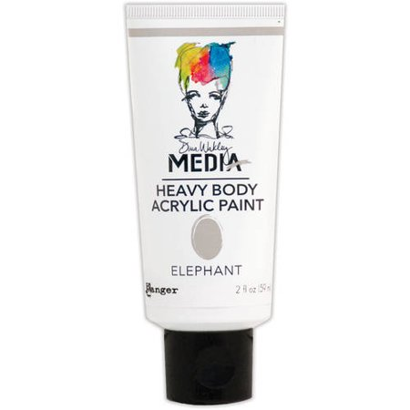 Dina wakley media heavy body acrylic paint 2oz elephant for Craft smart acrylic paint walmart