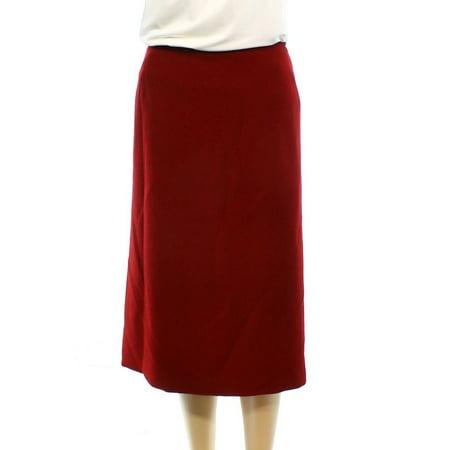 daec1370233 tahari-by-asl - tahari by asl new red women size 14w plus straight crinkle pencil  skirt - Walmart.com