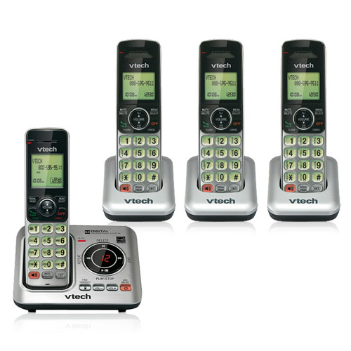 VTech CS6429-4 Cordless Phone System W  Wall Mount & Expandable Up To 5 Handsets by VTech