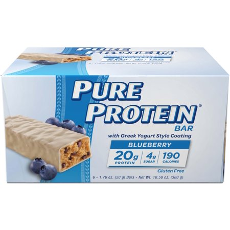 Pure Protein Bar, Blueberry Greek Yogurt, 20g Protein, 6