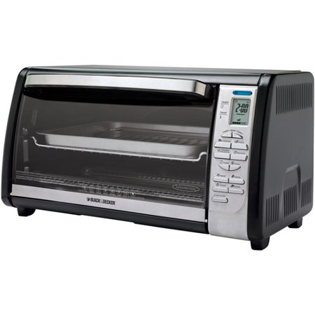 Black Amp Decker 6 Slice Toaster Oven Black Silver