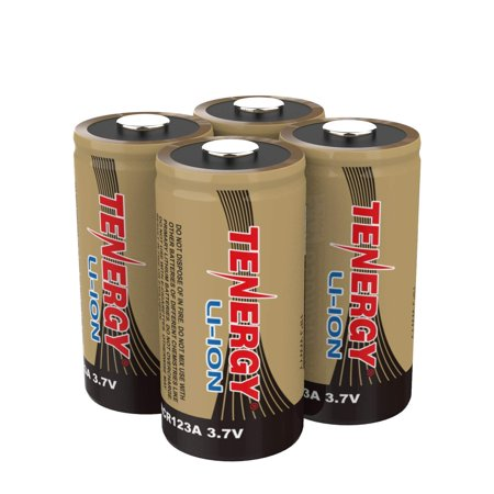 Arlo Certified: Tenergy 3.7V Li-ion Rechargeable Battery for Arlo Security Cameras (VMC3030/VMK3200/VMS3330/3430/3530) 650mAh RCR123A UL UN Certified 4 -