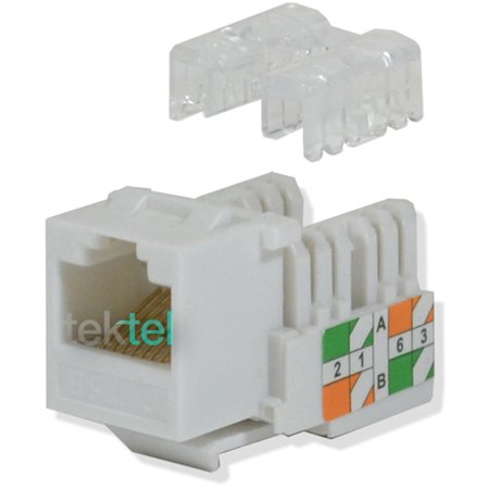 CAT5E White Network Ethernet 110 Punchdown 8P8C Keystone Jack
