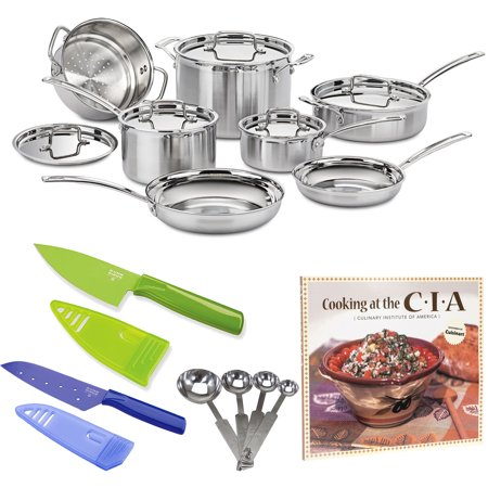 - Cuisinart MCP-12N MultiClad Pro Stainless Steel 12-Piece Cookware Set Bundle