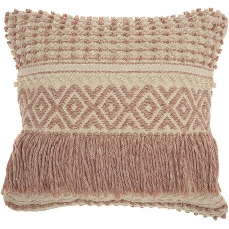 Nourison Life Styles Textured Blush Decorative Throw Pillow , 20