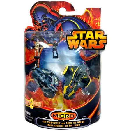 Jedi Star fighter and Droid Tri-fighter Mini Vehicle 2-Pack Star Wars