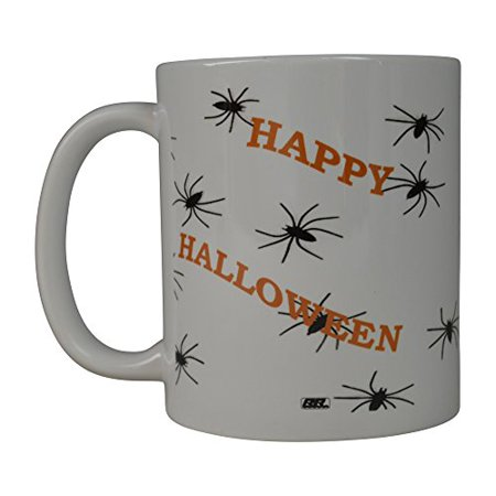 Rogue River Funny Coffee Mug Happy Halloween Spiders Novelty Cup Great Gift Idea Halloween (Spiders)