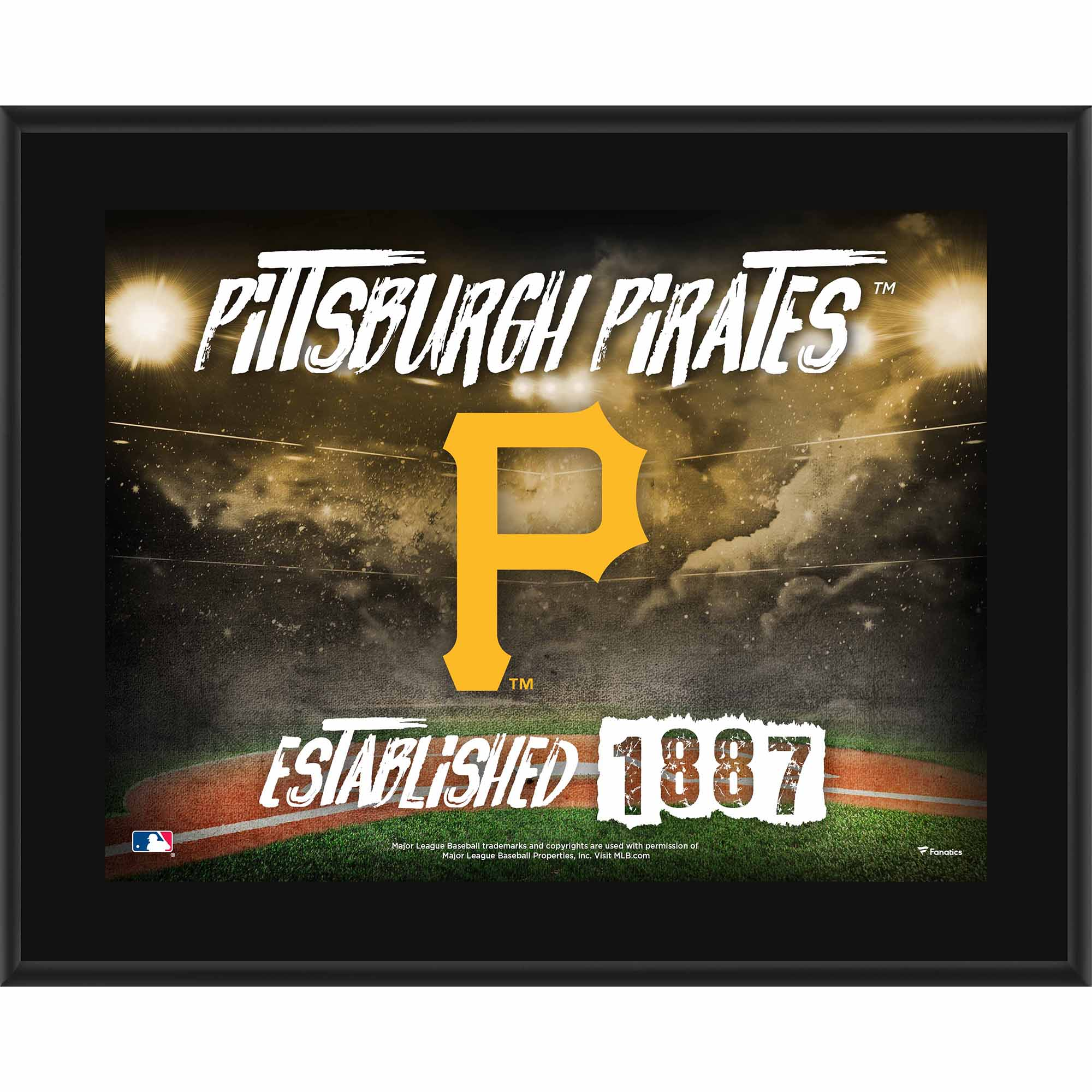 "Pittsburgh Pirates Fanatics Authentic 10.5"" x 13"" Sublimated Horizontal Team Logo Plaque - No Size"
