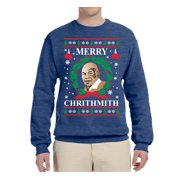 Merry Chrithmith Mike Tyson Mens Ugly Christmas Graphic Crewneck Sweatshirt